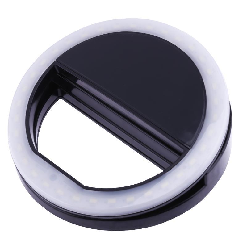Перезаряжаемые СВЕТОДИОДНЫЙ Кольцо селфи свет для iphone светодиодный флэш заполняющий свет selflife лампа Объективы для фотоаппаратов мобильно... ...