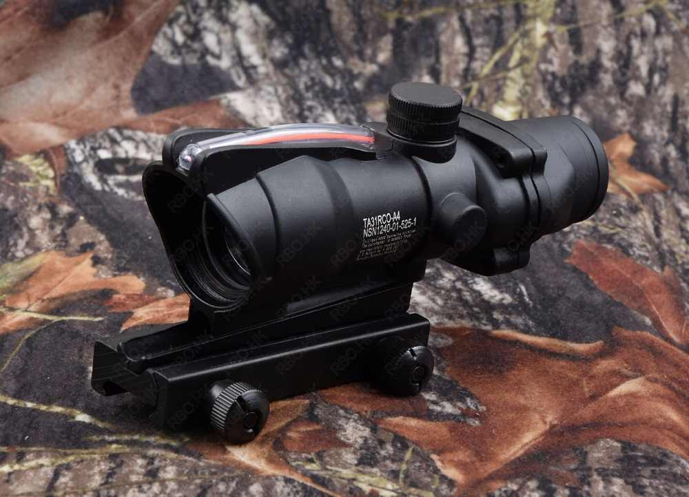 Tactische trijicon ACOG style 1X32 Red Dot Sight red Fiber Optic rifle scope met 20 mm Picatinny Rail m7262