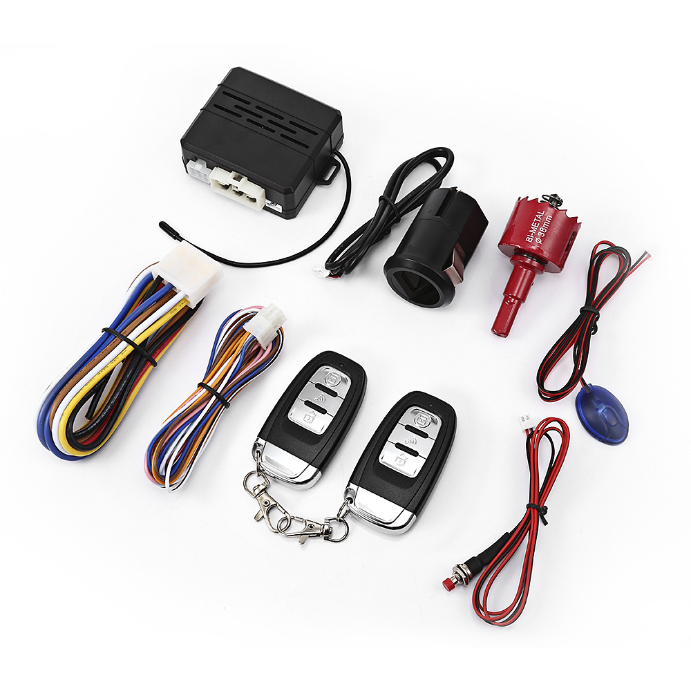 X2 12V Car Fingerprint Identification Car Alarm Remote Start Up Anti Theft System With Smart Delay Alarm Driving Lock Audible-in Burglar Alarm from Automobiles & Motorcycles