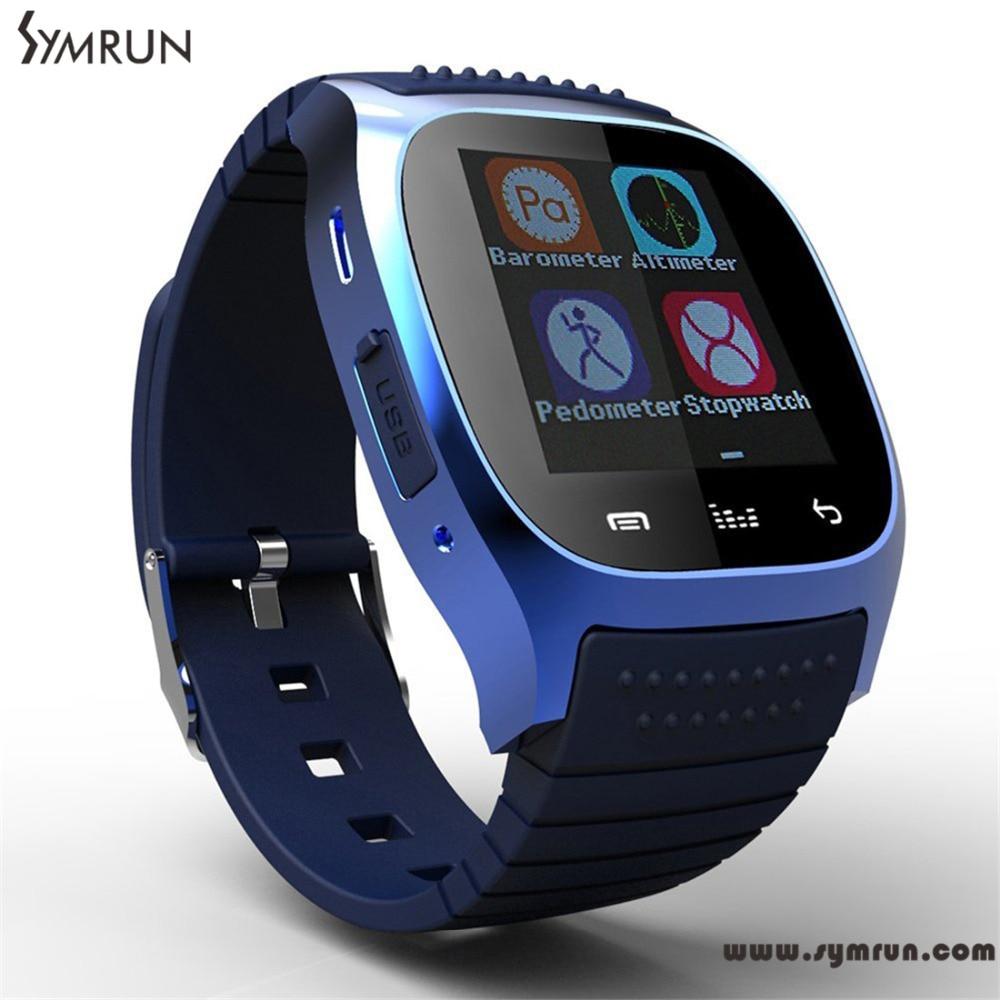 Symrun New Sport Bluetooth Smart Watch Wristwatch M26 font b Smartwatch b font With Dial Sms
