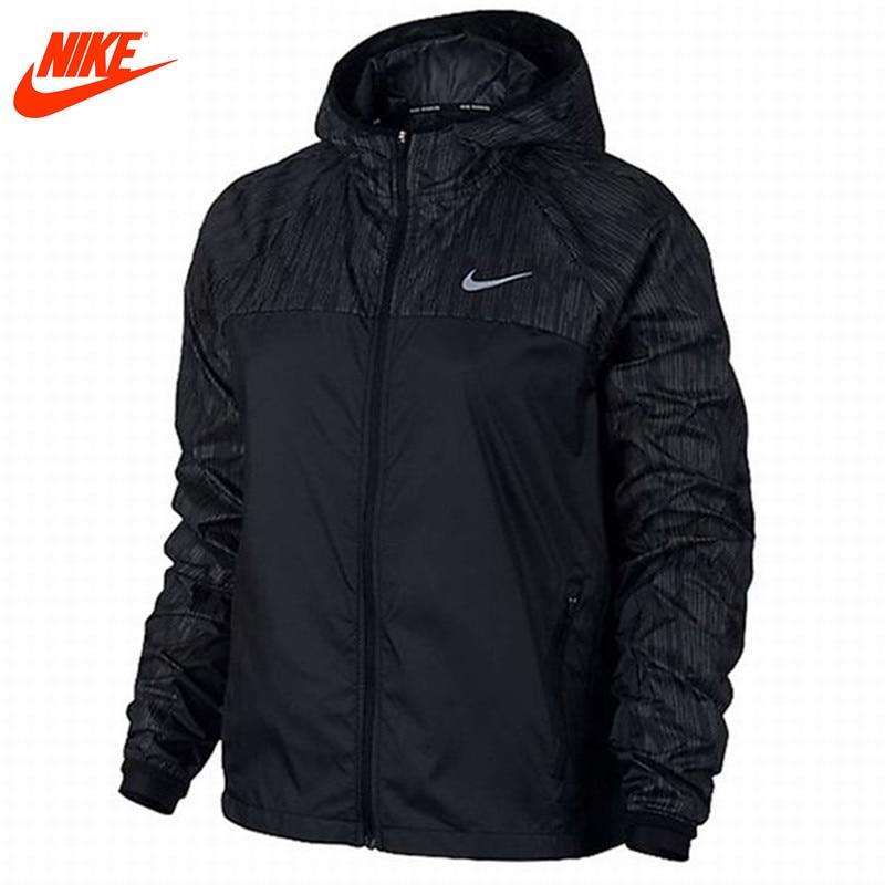 Nike women's winter woven hooded windproof sports jacket 799886-010 nike nike fuelband sports bracelet battery cover green m