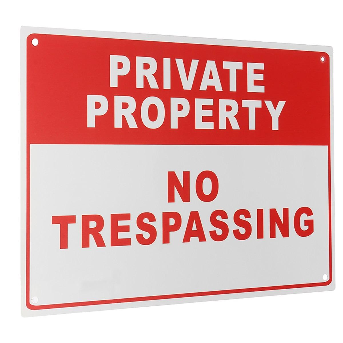 Новый safurance частной собственности Посторонним вход воспрещен металла Детская безопасность Предупреждение знак 4 отверстие 20x30 см охранных ...