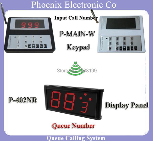 Fila Hospital Pager Sistema De Painel de Exibição Com 1 pcs Sem Fio P-Main & 1 pcs Exibição P-402NR Mostrando número de Chamadas recebidas
