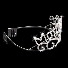 "Bachelorette Tiara ""Bride To Be"" Crown With Comb"