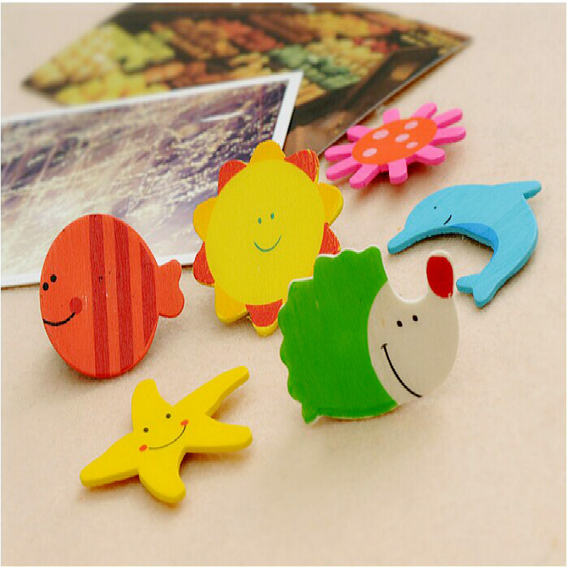 12 sets set of floating magnet baby wooden cartoon animal cute eco friendly preschool children education toys in Bath Toy from Toys Hobbies
