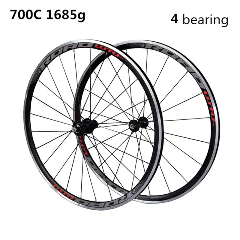 High Quality HOT sale 700C Alloy V Brake Wheels bmx Road Bicycle Wheel Aluminium Road Wheelset Bicycle Wheels 1pcs magnesium alloy single speed fixed gear bike wheels 700c road racing venues inch wheel bicycle accessories