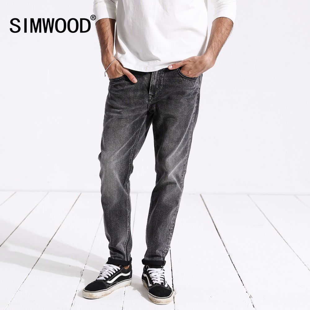 SIMWOOD New Arrive 2019 Spring   Jeans   Men Fashion Vintage Slim Fit Casual Brand Denim Trousers Plus Size Free Shipping 180315
