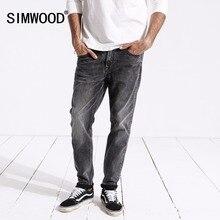 SIMWOOD nowy przyjeżdża 2020 wiosenne dżinsy mężczyźni moda w stylu Vintage Slim Fit w stylu casual markowa Denim spodnie Plus rozmiar darmowa wysyłka 180315