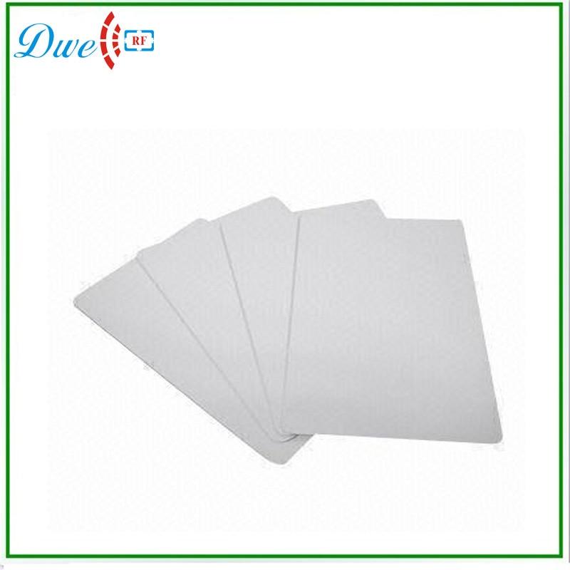DWE CC RF ISO14443A standard 1KB S50 blank RFID access control reader cards цена и фото