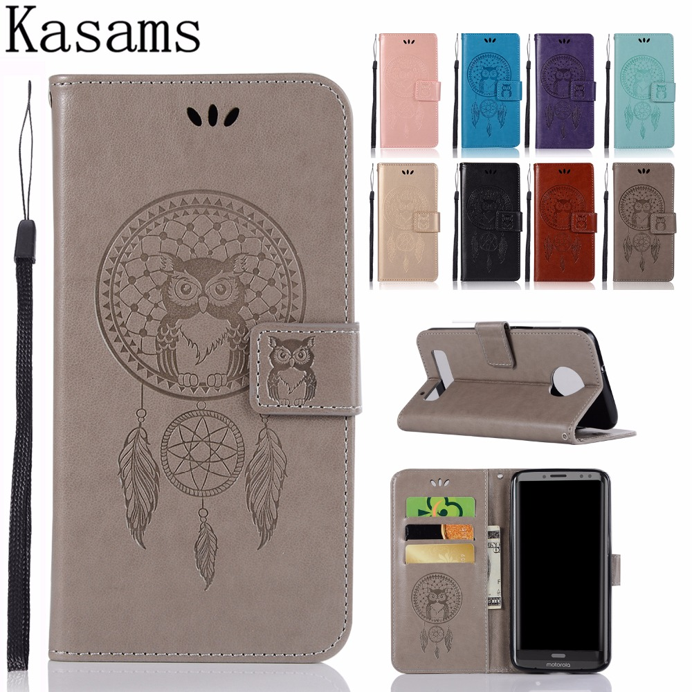 Fundas For Moto Z3 Play Phone Case For Moto Z Play Z2 Play ZPlay (2nd Gen) Shell Owl PU Leather Cover Stand Flip Book Cases