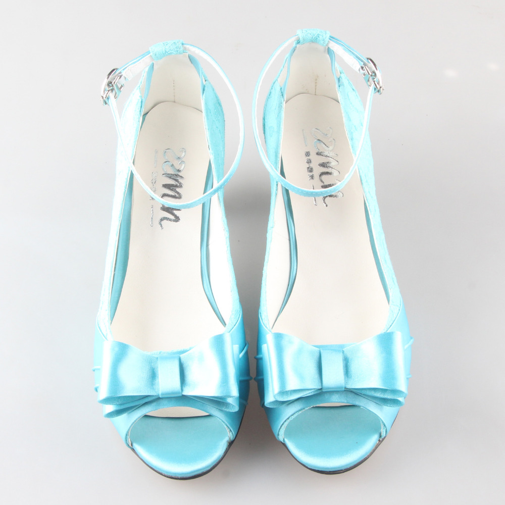 Creativesugar Handmade turquoise lace low heel wedding party prom pumps with pearls party prom bridal wedding shoes big size - 4