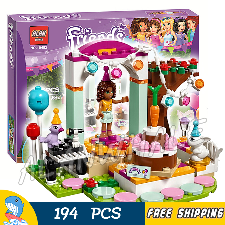 194pcs Friends Heartlake City Garden Birthday Party Mixed 10492 Model Building Bricks Blocks Classic Toys Compatible With lego