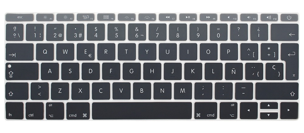 Image 3 - Silicone Keyboard Cover for Macbook 12 inch A1534 and New MacBook Pro 13 inch A1708 A1988, Spanish & English European ISO Layout-in Keyboard Covers from Computer & Office