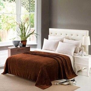 Image 4 - CAMMITEVER Solid Color Flannel Blanket Adult Warm Blanket Super Soft Coral Fleece Blanket Adult Double Bed Sofa