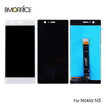 LCD Display For Nokia 3 N3 TA-1032 Touch Screen Digitizer Sensor Panel Replacement Repair Parts Assembly No Frame Black White все цены