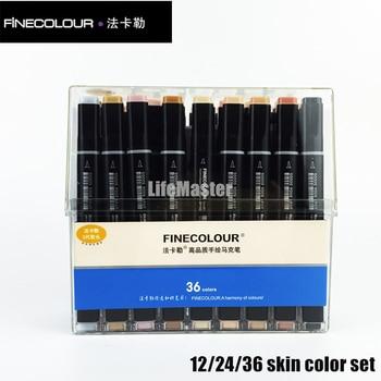 Finecolour kolor skóry końcówka pędzla markery zestaw alkohol atrament końcówką z filcu marker do malowania komiks dostaw sztuki końcówką z filcu projekt graficzny EF102