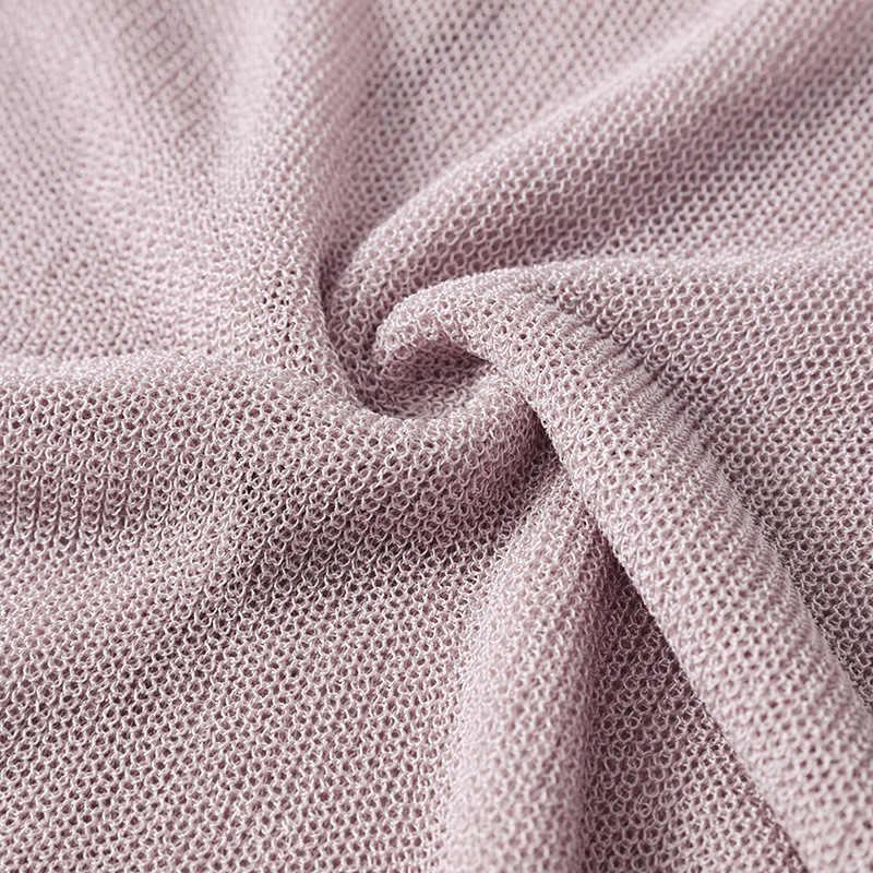 여름 카디건 여성 얇은 스웨터 바깥 쪽 니트 탑 핑크/화이트/그레이 2019 새로운 v 넥 한 사이즈 대형 스웨터 중공