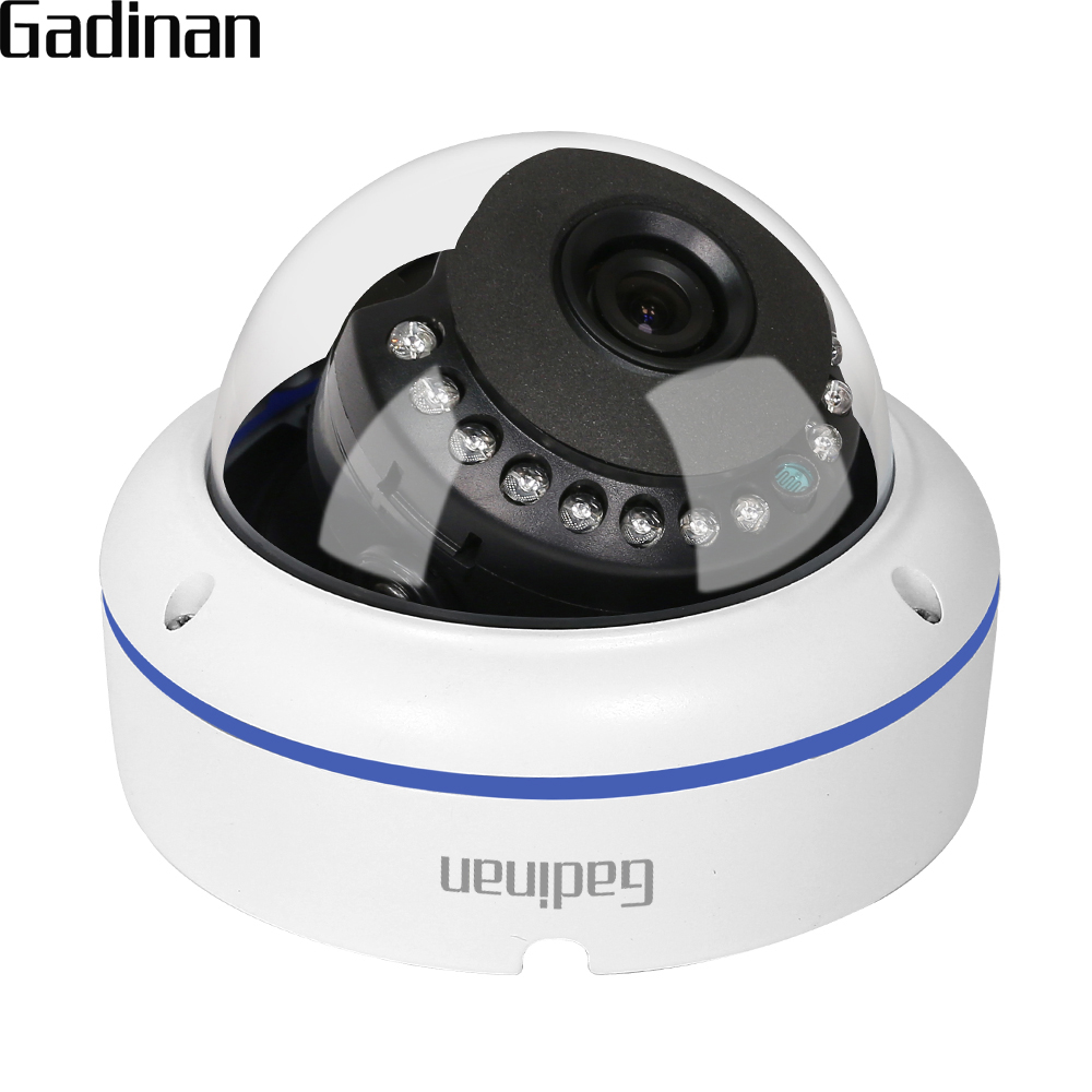 GADINAN H.265 5MP 2592*1944 3MP 2MP IP Camera 3.6mm 6mm 8mm Lens Surveillance Video Vandalproof CCTV Dome Camera DC 12V/48V PoE