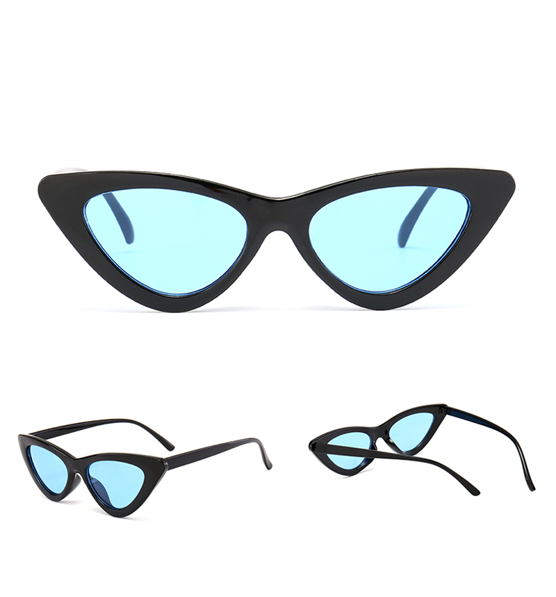 79ecac6f3cc0f Peekaboo cute sexy retro cat eye sunglasses women small black white ...
