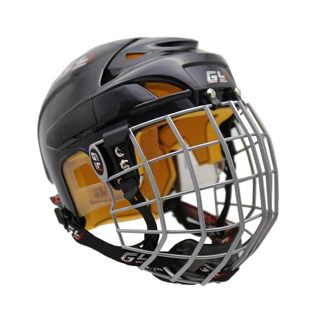 2019 GY amélioration Version parfaite casque de Hockey sur glace équipement de masque en acier avec Cage Combo taille de mélange et couleur noire