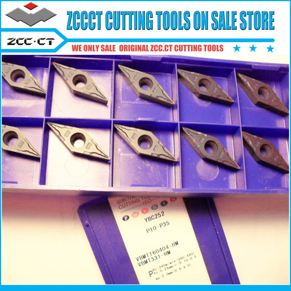 50pcs ZCCCT tools VBMT160404-HM YBC252 VBMT160404 VBMT1604 <font><b>VBMT</b></font> <font><b>160404</b></font>-HM ZCC cutting tools for varies material metal cut image