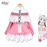 Anime Kanna Kamui Cosplay Costume Clothes Miss Kobayashi's Dragon Maid Kanna Anime Party Cosplay Lolita Dress Sets For Women