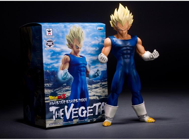 "Display box&lighting types have !Anime Dragon Ball Z Super Saiyan Vegeta PVC Action Figure Collection Model Toy 10"" 26CM"