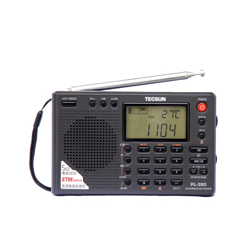 Tecsun PL-380 PL380 radio Digital PLL Portable Radio FM Stereo/LW/SW/MW DSP Receiver Nice 10 pcs pocket radio 9k portable dsp fm mw sw receiver emergency radio digital alarm clock automatic search radio station y4408h