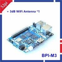 Banana pi m3 BPI-M3 a83t octa-core (8-core) 2gb ram com wifi & bluetooth 4.0 aberto-fonte demo única placa