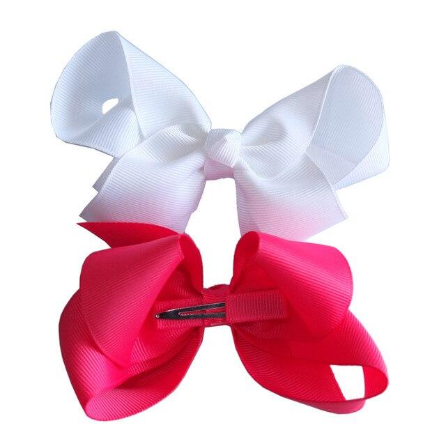 40 pcs 4 inch hair bow Kids Girls boutique hairbow Hair clips Barrettes Hairpins Hairgrips School hair bows HAIR ACCESSORIE
