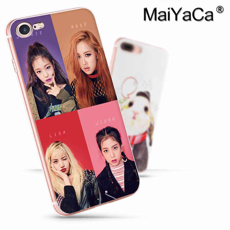 MaiYaCa الأسود الوردي BLACKPINK k-pop سوبر الفاخرة جراب هاتف آيفون 11 برو 8 7 66S زائد X 10 5s SE XR XS XS ماكس غطاء