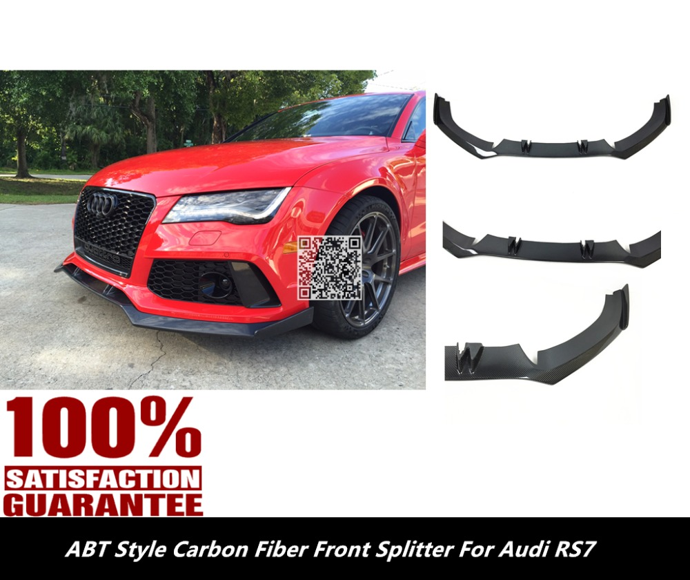 Rs7 front lower splitter lip abt style carbon fiber front lip spoiler for audi rs7 nice fitment high quality from reliable lip spoiler suppliers on