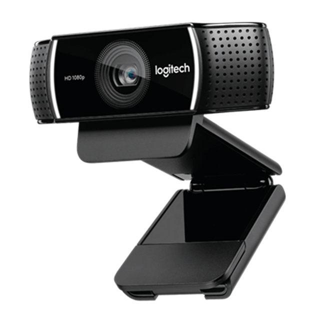 لوجيتك C922 برو ضبط تلقائي للصورة ميكروفون مدمج كامل HD مرساة كاميرا ويب