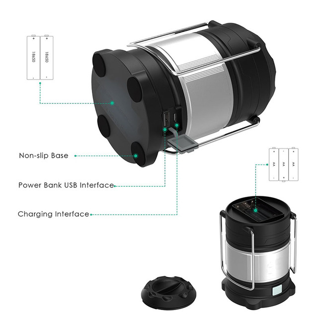 Portable Power Bank Rechargeable Lantern