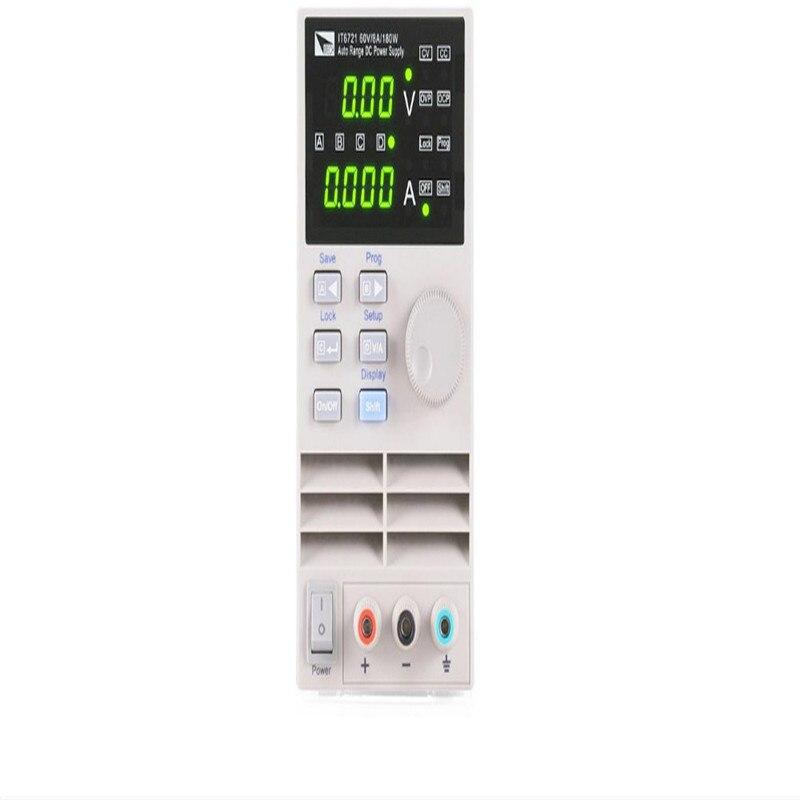 Компактный небольшой цифровой Управление программируемый Регулируемая переменная DC Питание Выход 0 60 В 0 8a 180 Вт AC110V 220V it6721