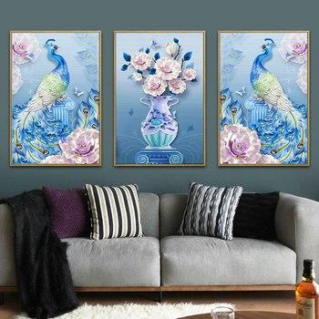DIY 5D Sale Diamond Embroidery, Diamond Mosaic, Special Shaped, Full, Flower Peacock, Diamond Painting, Cross Stitch,3D, Decorat фото