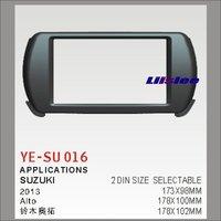 Liislee For Suzuki Alto 2009~2014 Aftermarket Radio Dash Board Kit 2 DIN ABS Plastic Fascias Car Audio Panel Frame Fascia