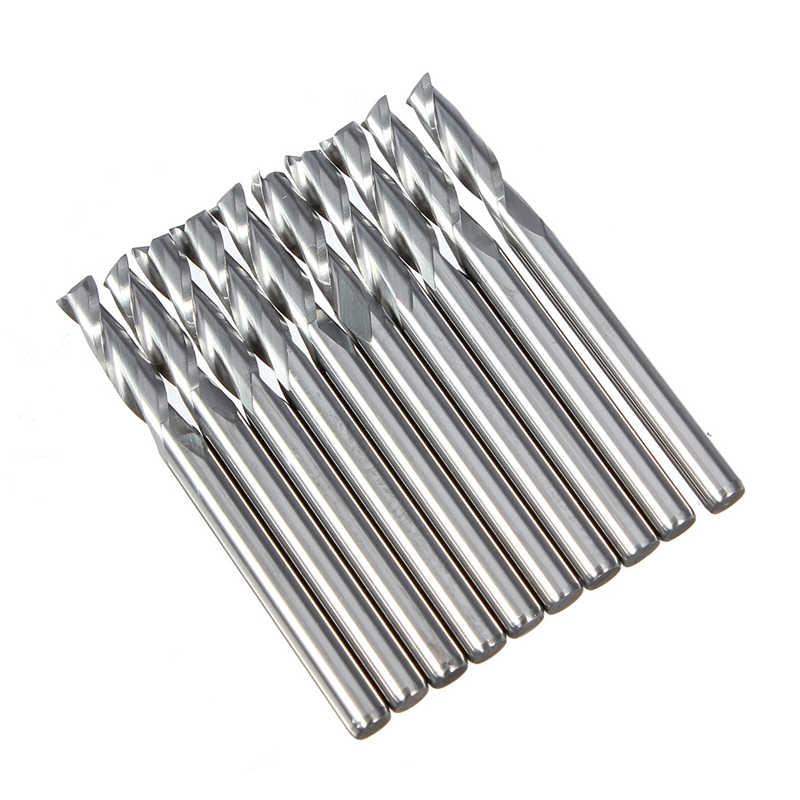 Top Quality 10pcs/set Double Flute Spiral CNC Router Bits Engraving Cutting Tool 3.175x22mm 1/8 Best Price 96pcs 130mm scroll saw blade 12 lots jig cutting wood metal spiral teeth 1 8 12pcs lots 8 96pcs