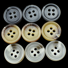 Retro Mixed Color Round Resin Buttons 4 Holes Sewing Button Scrapbooking Craft Decoration DIY Apparel Accessories