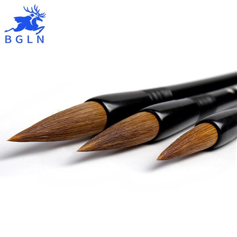 BGLN 3Pcs/set Weasel Hair Chinese Calligraphy Brushes Pen Set Calligraphy Pen Artist Drawing Brush For Writing Painting Brush