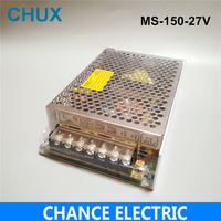 150W 27V 5.6A Small Volume Single Output Switching power supply for LED Strip light AC to DC(MS 150 27) free shipping