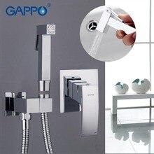 Gappo 비데 수도꼭지 욕실 비데 샤워 세트 샤워 꼭지 화장실 비데 이슬람 샤워 황동 벽 마운트 와셔 탭 믹서 G7207