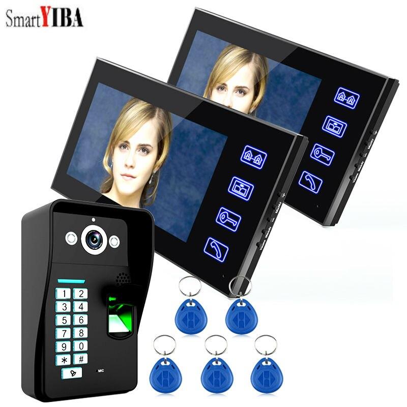 SmartYIBA 7 Fingerprint Access Controller Video Door Phone RFID Card Reader Video Intercom Video Apartment Door Bell Interphone