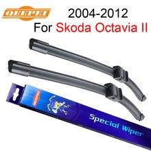 Qeepei для шкода Octavia 2 2004 – 2012 24 + 19 щетка стеклоочистителя комплект аксессуаров для автомобильной автомобиля натуральный каучук стеклоочистители, Cpa108-1