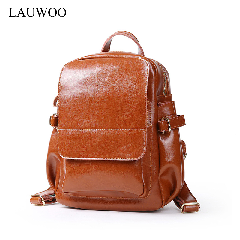 LAUWOO brand lateset women backpack vintage cow leather backpack school bags for girls female large multifunctional backpack lauwoo new fashion women genuine leather backpack school bags for girls female vintage multifunctional backpack shoulder bags