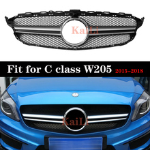 Racing Grills For Mercedes C class W205  C180 C200 C250 C300 Grille 2015-2018