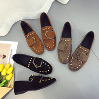 2019 spring ladies flat pearl beaded casual women's shoes casual shoes