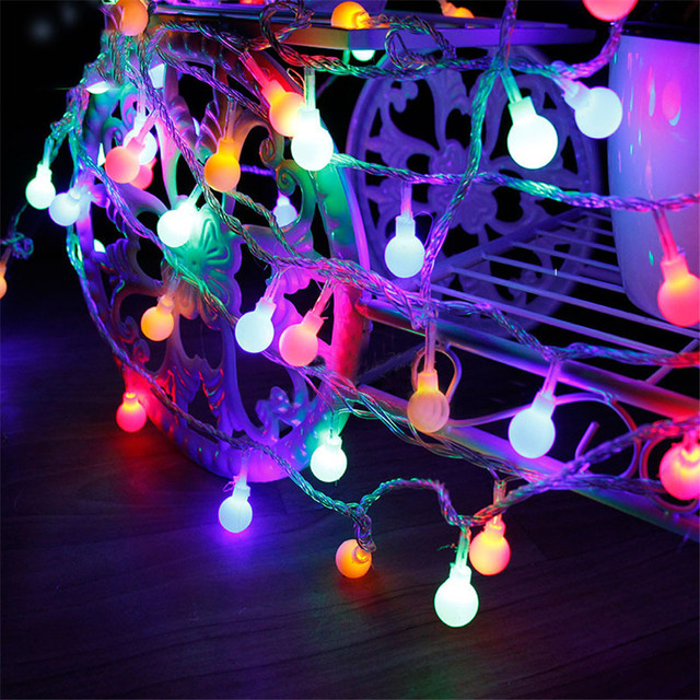 beiaidi 5m 50 led christmas light new year garland led string fairy lights battery operated outdoor