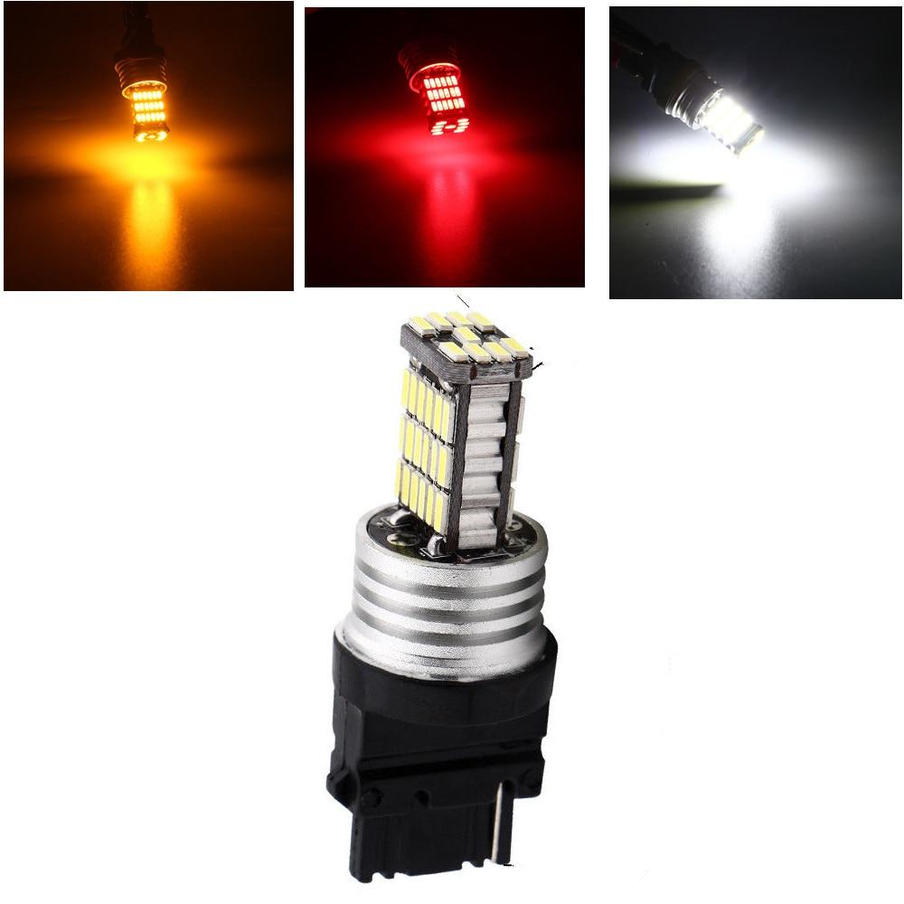 2 x BAY15D 1157 T25 12 LED Car Tail Stop Turn Signal Lights Bulbs White O3 HJ 2X