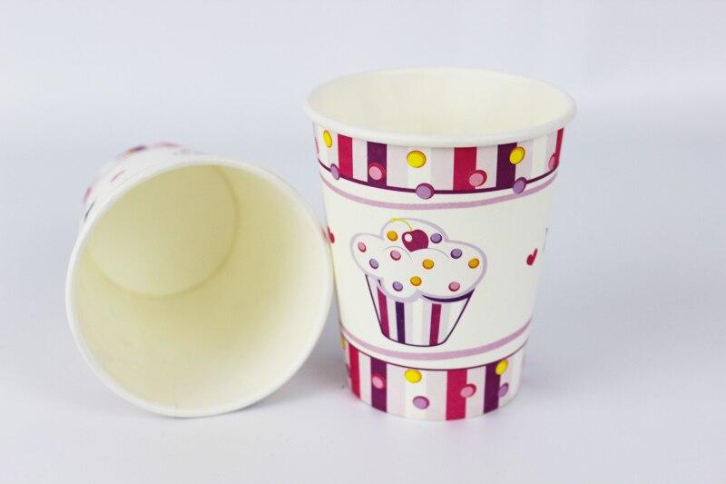 12 pcs joyeux anniversaire decoration parti vaisselle jetable gobelets en papier princesse creme glacee de bande dessinee motif enfants articles de fete